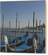 Gondolas In The Bacino Di San Marco Wood Print