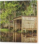 Gone Fishing On Caddo Lake Wood Print