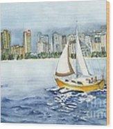 Gone Sailing Wood Print