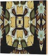 Gong Sound Mandala Yantra Wood Print