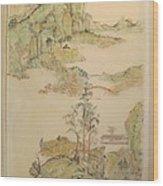 Gongbi Landscape # 4 Wood Print