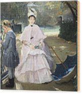 Gonzales' Nanny And Child Wood Print