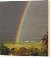 Gonzalo Rainbow Wood Print