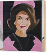 Good And Plenty Jackie O  Wood Print by Candace Lovely