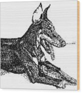 Good Dog Wood Print by Michael Volpicelli