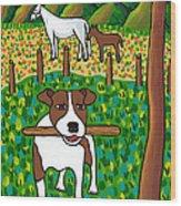 Good Dog Wood Print