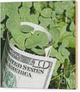 Good Luck And Money Wood Print