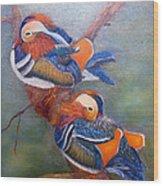 Good Luck Mandarins Wood Print