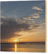 Good Morning Toronto With A Glorious Sunrise Wood Print