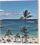 Good Morning Waikiki Wood Print