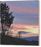 Good Night Blue Ridge Wood Print