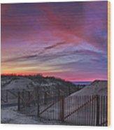 Good Night Cape Cod Wood Print