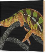 Good Night Chameleon Wood Print