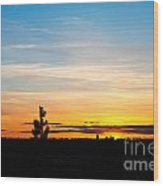 Good Night Spokane Wood Print by Chris Heitstuman