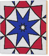 Good Old Red White And Blue 2 Wood Print