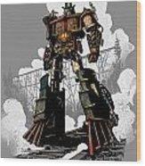 Good Robot Wood Print by Brian Kesinger