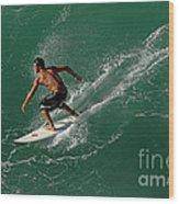 Good Waves Good Body Wood Print