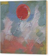 Goodbye Red Balloon Wood Print by Michael Creese