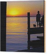 Goodnight Sun Wood Print by Karen Wiles