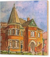 Goodridge Memorial Library Painting By Donna Walsh