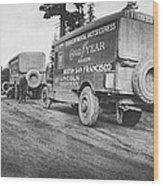 Goodyear Wingfoot Express Wood Print