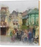 Goofy Hugs Disneyland Toontown Photo Art 01 Wood Print