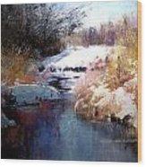 Goose Creek Winter Wood Print