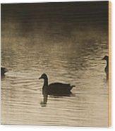 Goose Silhouette Wood Print
