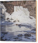 Gooseberry Middle Falls In Winter Wood Print