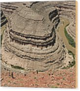 Goosenecks - San Juan River Wood Print by Christine Till
