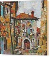 Gordes- Colorful Street Wood Print
