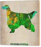 Gordon Setter Poster 2 Wood Print by Naxart Studio