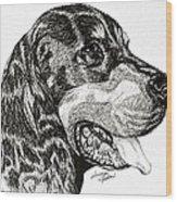 Gordon Setter Wood Print