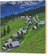 Goreljek Shepherding Village In Alpine Wood Print