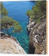 Gorge At Calanque De Port Miou In Cassis France Wood Print
