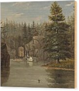 Gorge Of The St Croix Wood Print by Henry Lewis