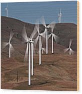Gorge Windmills Wood Print