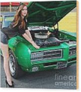 Gorgeous Green Goat Gto Wood Print
