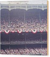 Gorgeous View Of Old Yankee Stadium Wood Print