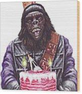 Gorilla Party Wood Print