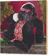 Gorilla With Shades-faa Wood Print