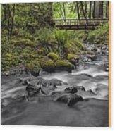 Gorton Creek Bridge Wood Print