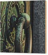 Goth - Crypt Door Knocker Wood Print by Paul Ward