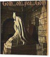 Goth Poster Wood Print