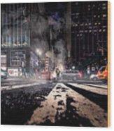 Gotham - Breaking Dawn Wood Print