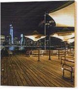 Gotham By Night Wood Print