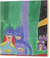 Gotham Heroes  Wood Print by Don Larison