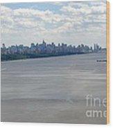 Gotham On The Hudson Wood Print by David Bearden