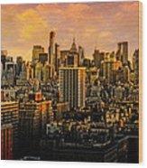 Gotham Sunset Wood Print