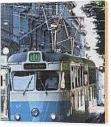 Gothenburg Tram 01 Wood Print